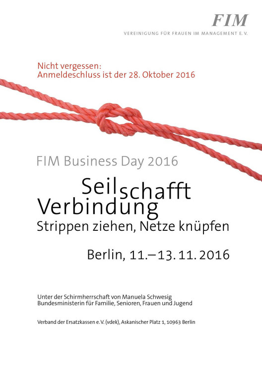 FIM Business Day 2016 - Plakat